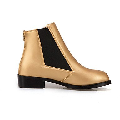 Career Gold Black Winter Fashion Heel Zipper Boots amp;xuezi Office Low Black Dress amp; Leatherette Fall Women's Boots Gll Flat wa4xYCqPCZ