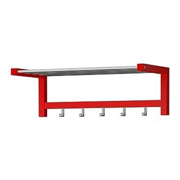IKEA TJUSIG - sombrero rack, rojas - 79 cm: Amazon.es: Hogar
