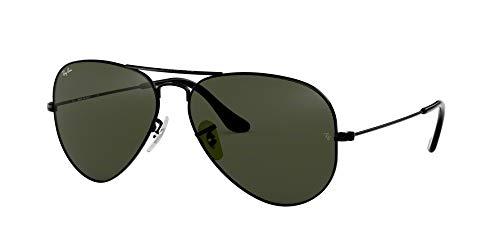 Ray Ban Aviator Green Glass - Ray-Ban Aviator Large Metal Sunglasses Black/Crystal