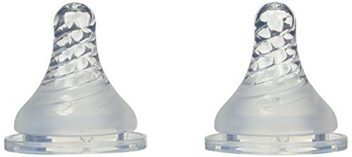 Simply Playtex BPA Free Baby Bottle Nipples, Medium Flow - 2 Pack