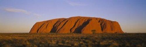 Posterazzi PPI56128L Formations on a Landscape Ayers Rock Uluru-Kata Tjuta National Park Northern Territory Australia Poster Print, 36 x 12