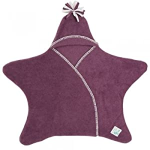 Tuppence and Crumble Star Baby Wrap Heather Size Medium