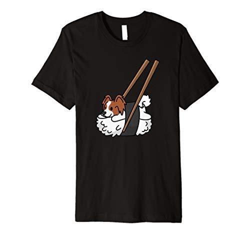 Papillon Sushi Funny Dog Gift  Premium T-Shirt