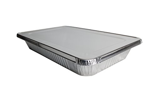 eHomeA2Z (10 Pack) Heavy Duty Full Size Disposable Aluminum Foil Steam Table Pans With Foil Lids for Cooking, Roasting, Broiling, Baking - 21 x 13 x 3 (10, Full-Size w/ Lids) by eHomeA2Z (Image #1)