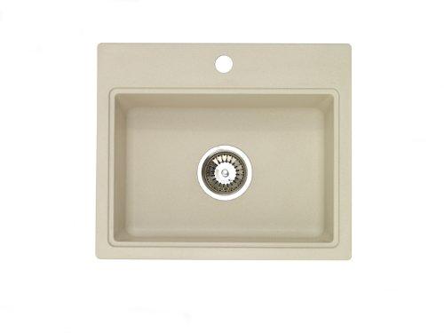 Pegasus AQ10SA 20-Inch by 17-Inch Granite Bar/Prep Sink, Sahara Stone