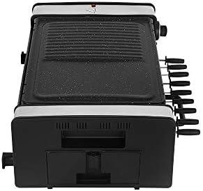 LWQ Grill Électrique, Machine À Kebab Électrique Maison Plaque De Cuisson Électrique Coréenne Rotation Automatique Brochette Grills