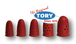 Tory Red Rubber Finger Pads Size 13 - 12/box