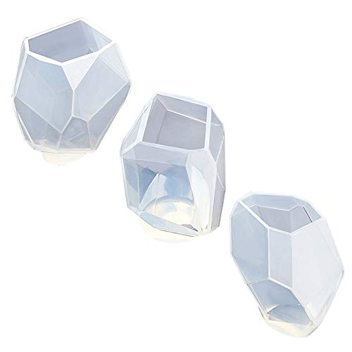 3 Styles DIY Resin Diamond Jewelry Casting Molds, Silicone