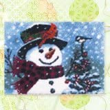 "Latch Hook Rug Kit""Snowman"" 52 x 38cm"