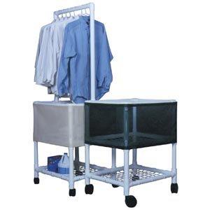 MJM 251D-R Laundry Basket with Bottom Shelf, 3 oz Capacit...
