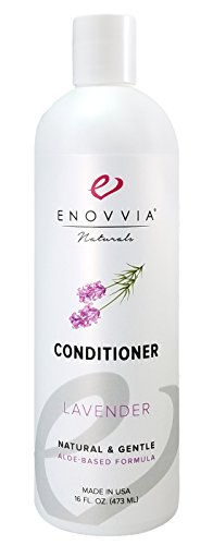 Enovvia Natural Lavender Conditioner with Argan Oil, Lightly Scented with 100% Pure Essential Oil, Silicone-Free and Sulfate-Free, Deep Conditioning Formula, 16 Ounces