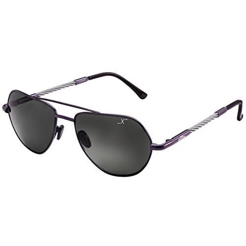 0f130b457b Xezo Freelancer - Gafas de sol de curva 6 de titanio y cable de acero  polarizadas