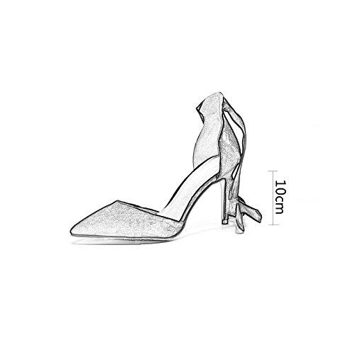 WENJUN Con Scarpe Elegante Alti Sexy Retr Sandali Tacchi Moda Dea Femminili rqxXRr4