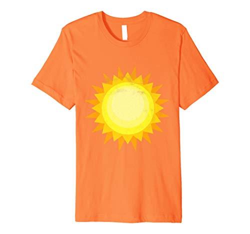 lipse Costume For Couples - Sun T-Shirt Medium Orange ()