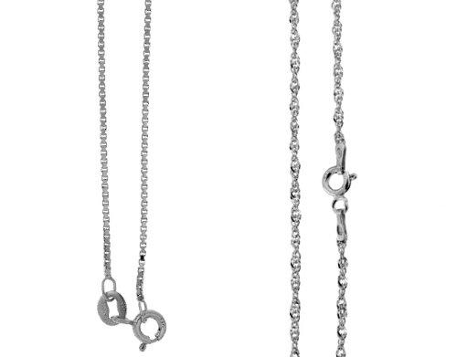 catenina argento 925  Catenina girocollo in argento 925 rodiato (a scelta tra 3 modelli ...