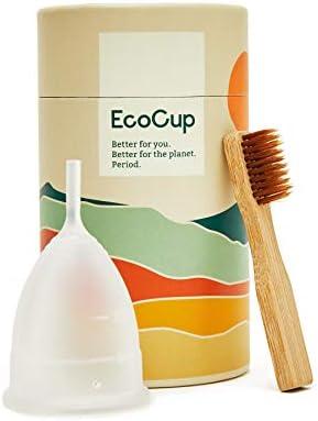 EcoCup - Copa menstrual (reutilizable, suave, ecológica, 12 ...