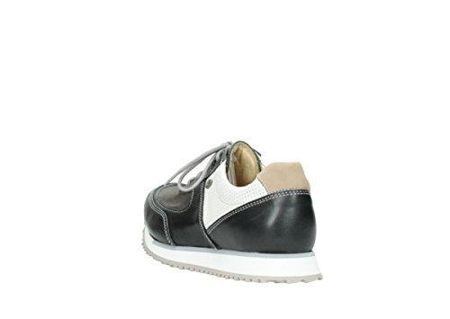 Wolky sneaker In bianco Comodità Formatori Tratto 70201 Grigio Pelle E 11xSAq