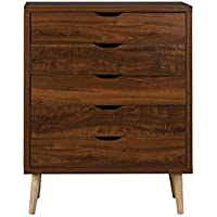 Mid-Century Modern Home Decor Entryway Classic Dresser Chest of Drawers, Brown