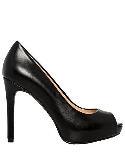 CH TEAU Pump Toe LE Black Heel Peep Women's Platform High AdwBq56Rw