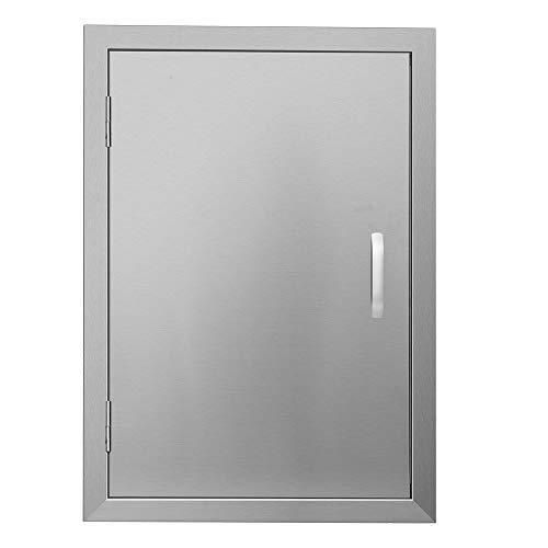 APWONE Outdoor Kitchen Access Doors Single BBQ Island 304 Stainless Steel Door Cabinet Door Flush Mount with Chromium Plated Handle - 17