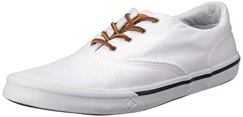 Sperry Men's Striper II CVO Washed Sneaker, White, 11 Medium US