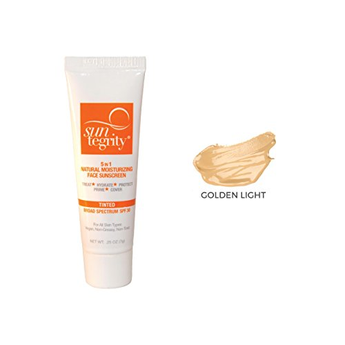 Price comparison product image SAMPLE TUBE - Suntegrity 5 in 1 Tinted Face Sunscreen (Golden Light)