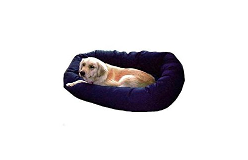 (32 inch Black Bagel Dog Bed By Majestic Pet Products)