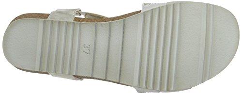 Marco Tozzi 28734, Sandalias con Cuña para Mujer Plateado (Silver 941)