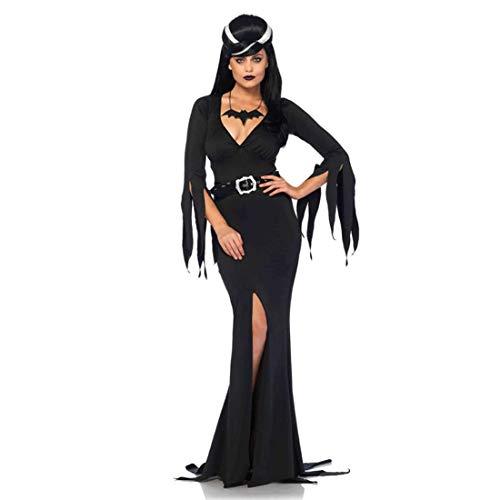 Leg Avenue Women's Immortal Morticia Mistress of The Dark Costume, Black -