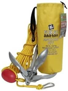 Boat Anchor Kit | 2.5 kg Anchor (5.5 Pound) | 50 ft (15 m) Woven Polypropylene Marine Rope with Carabiner Clip