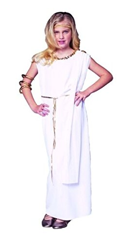 OvedcRay Athena Child Costume Greek Goddess Roman Girl Kids Toga Costumes Dress