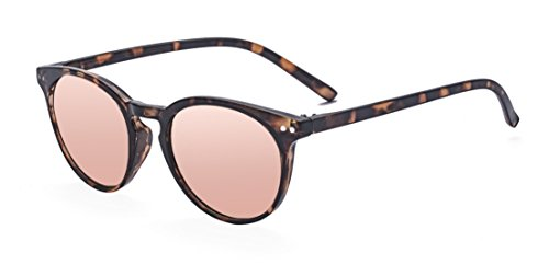 (Outray Vintage Inspired Small Nails Round Sunglasses for Men or Women 2203c4 Tortoise Pink)