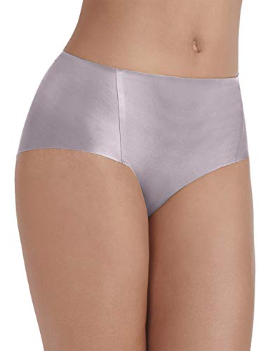 Vanity Fair Women's Underwear Nearly Invisible Panty, Earthy Grey, 2X-Large/9