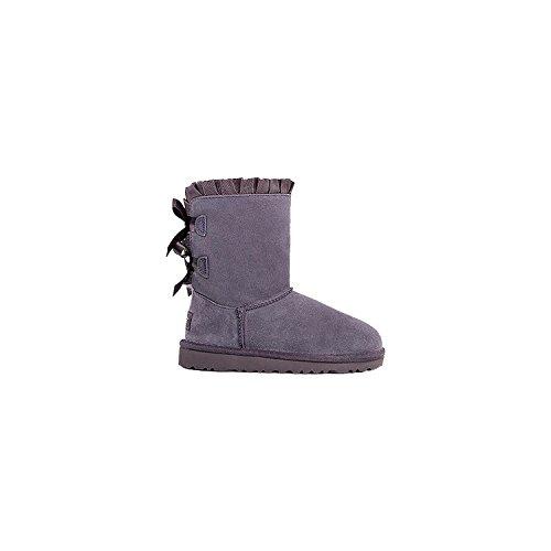 (UGG Girls Bailey Bow Ruffles Boot Nightfall Size 5 M US Big)