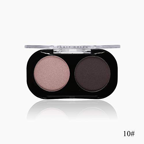 2 Color Smooth Glitter Nude Eyeshadow Palette Pigment Shimmer Matte Artist Duo Eye Shadow Kit Makeup Chic Eye Shadow 10