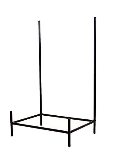 (Laredo Wrought Iron Rectangular Bowl Stand-19.5 Inches Tall by 11.75 Inches Wide x 8 inches deep. Handmade. Painted Bronze)