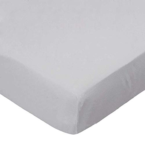 SheetWorld Fitted Portable / Mini Crib Sheet - Flannel - Silver Grey - Made In USA