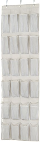 (AmazonBasics 24-Pocket Over-the-Door Hanging Medium-Size Shoe Organizer)