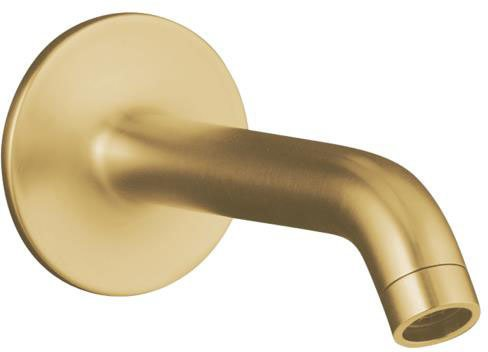 Kohler K-14426-BGD Purist Wall Mount Non-Diverter 35 Degree Bath Spout, Vibrant Moderne Brushed Gold by Kohler