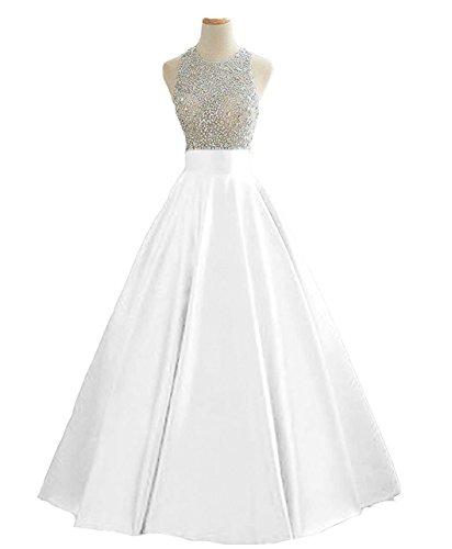 long white beaded dress - 9