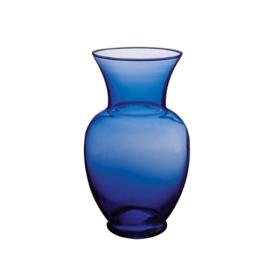 "Syndicate Sales 11"" Spring Garden Vase, Cobalt - 11 Inches Tall Made from Quality Glass Translucent Cobalt Color - vases, kitchen-dining-room-decor, kitchen-dining-room - 31G7eryk6eL. SS570  -"