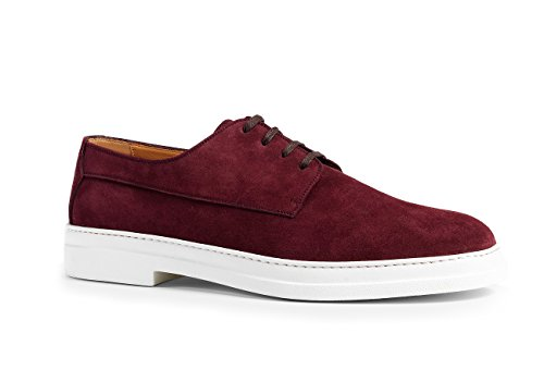 Gucci Mens Suede Lace Up Shoes Red Bordeaux 407297 Us 9