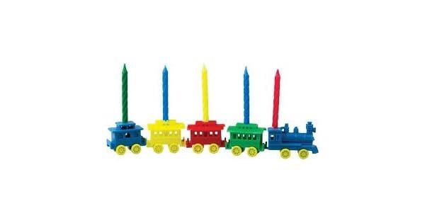 Amazon.com: Cumpleaños – Tren # 1 vela titular – Set de 5 ...