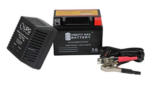 ytx4l-bs 12 V 3 Ah ReplacesスクーターSym DD 50 cc 09 + 12 V 1 Amp充電器 – Mighty Maxバッテリーブランド製品