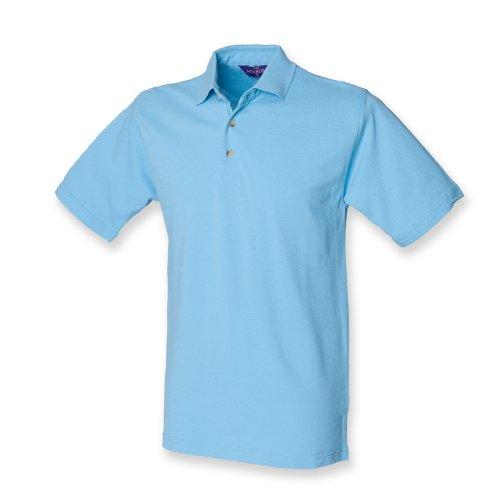 Henbury–Polo con cuello alto azul claro