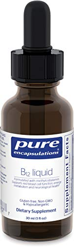 Pure Encapsulations – B12 Liquid – 1,000 mcg Vitamin B12 (Methylcobalamin) Liquid for Nerve Health and Cognitive Function* – 30 ml. Review