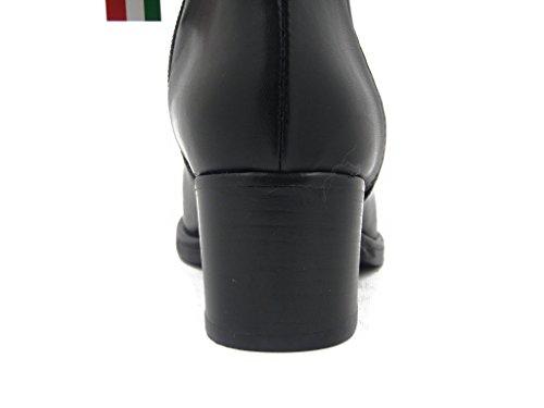 OSVALDO PERICOLI Stivaletto Donna in Pelle Nero, Tacco 5cm. TS0027-i16