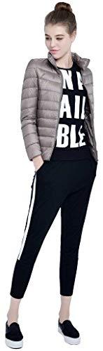 Tasche Classiche Di Laterali Collo Caldo Coreana Lunga Invernali Outwear Qualità Con Donne Cerniera Violett Outerwear Leggero Giacca Piumino Trapuntata Alta Manica Donna Monocromo WP6CTTxvwq