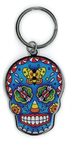Sunny Buick - Candy & A Butterfly Suger Skull - Cute High Quality Metal Keychain - 1.75