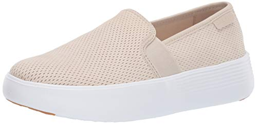 Cole Haan Women's Grand Crosscourt Flatform Slip ON Shoe, Beige, 7 B US